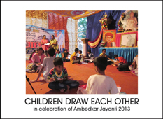 Children Draw Each Other for Ambedkar Jayanti